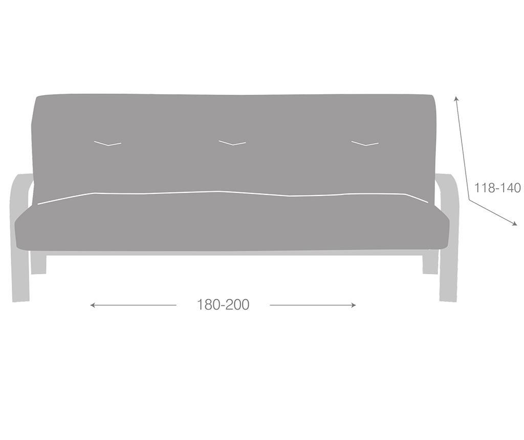 Husa elastica pentru sofa Ulises Clik Clak Grey 180x118 cm