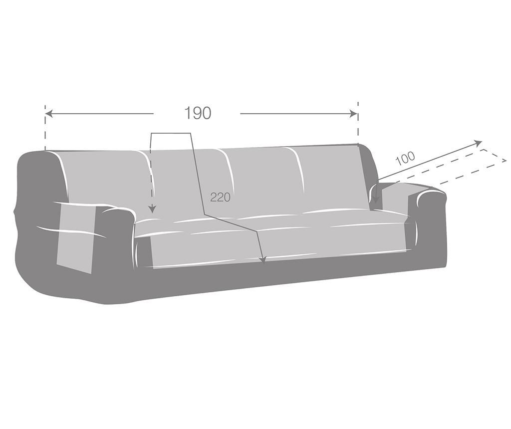 Prošivena navlaka za kauč Oslo Reverse Beige & Ecru 190x80x220 cm