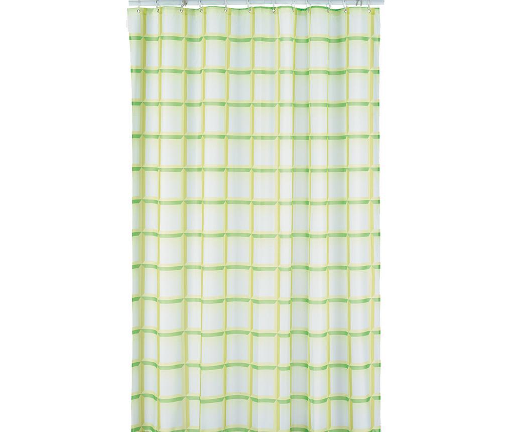 Zasłona prysznicowa Laneta Green 180x200 cm