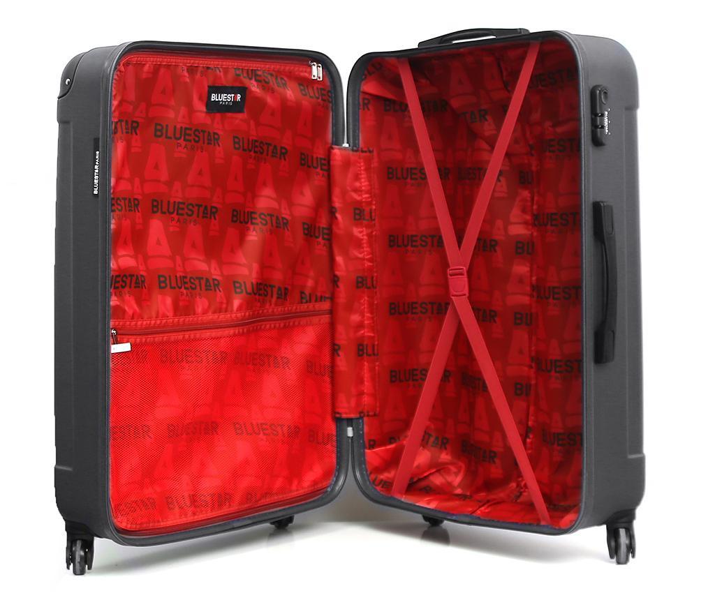 Madrid Dark Grey Gurulós bőrönd 31 L