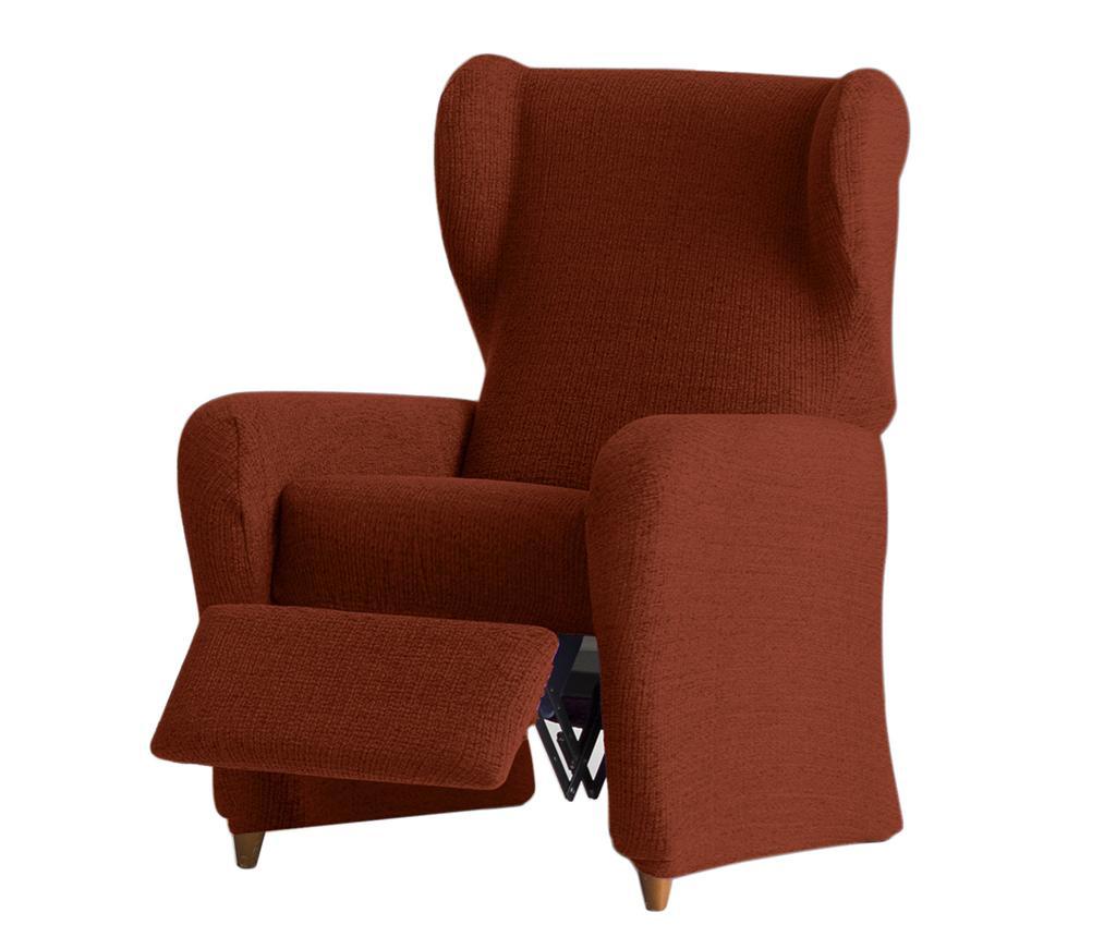 Pokrowiec elastyczny na fotel rozkładany Dorian Dark Orange 60x120x90 cm