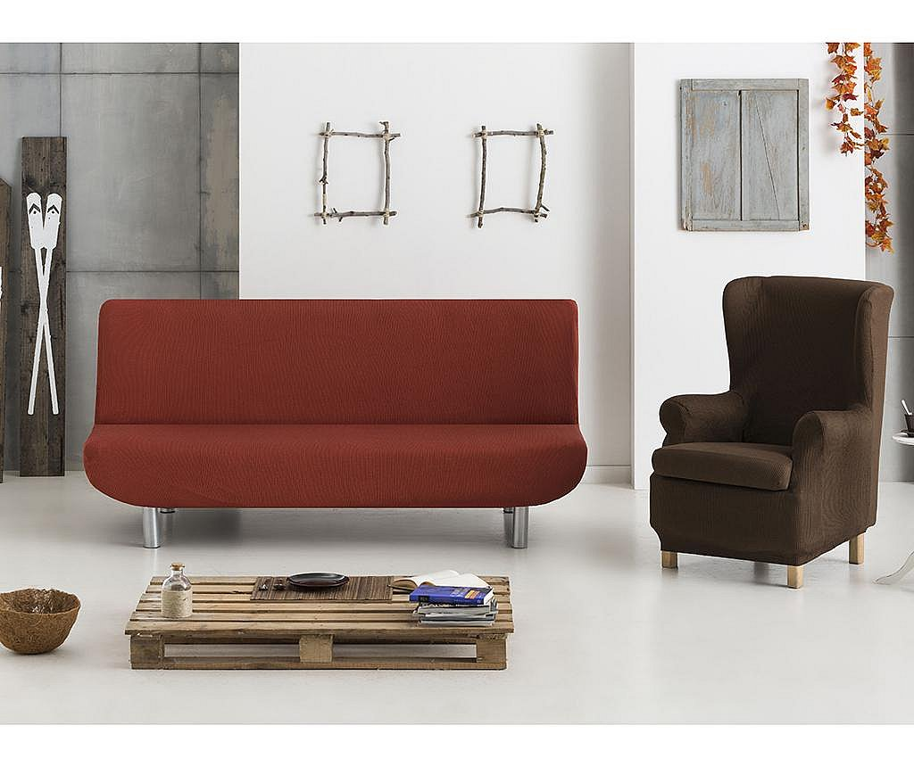 Husa elastica pentru fotoliu Ulises Brown 70x60x90 cm