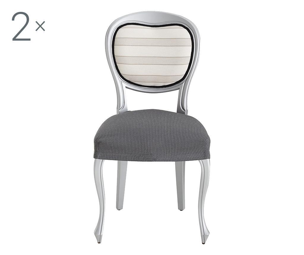 Set 2 elastične navlake za stolicu Ulises Grey 40x40 cm