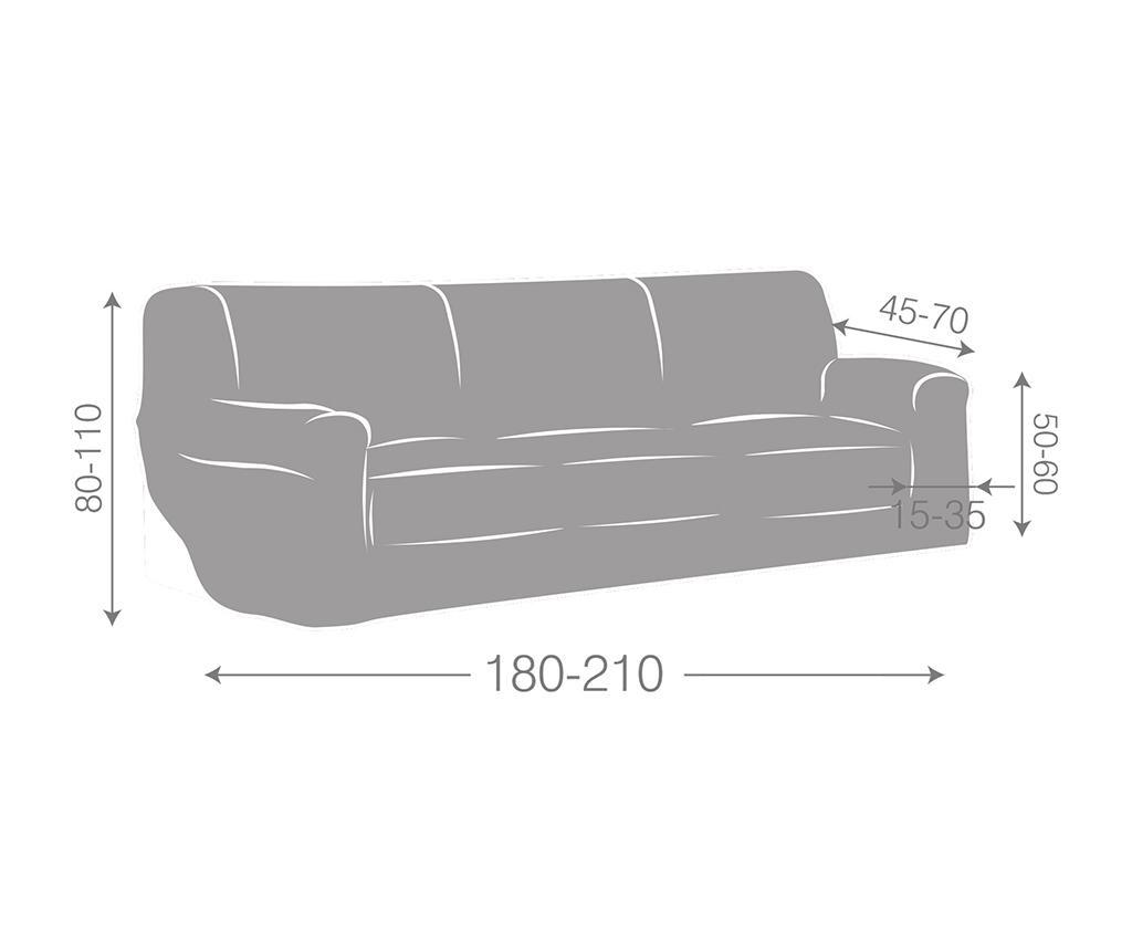 Elastična navlaka za kauč Ulises Grey 180x45x50 cm