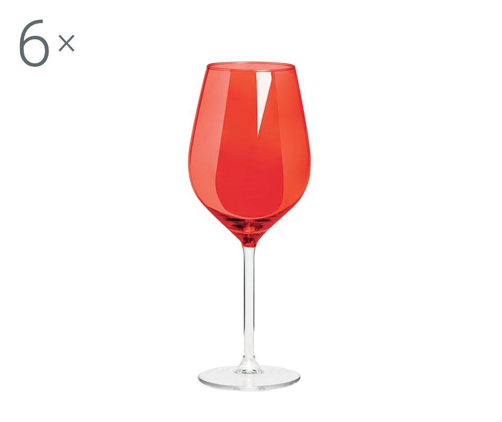 Set 6 pahare pentru vin Rolando Red 500 ml