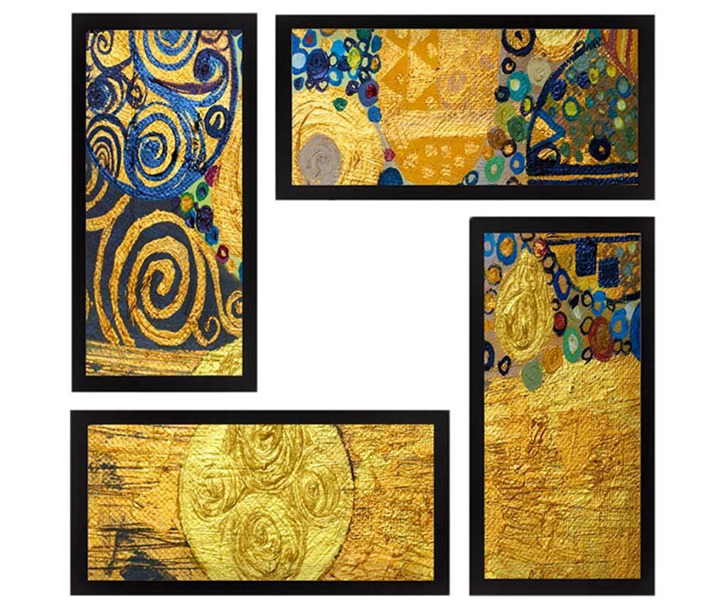 Set 4 tablouri Treasure