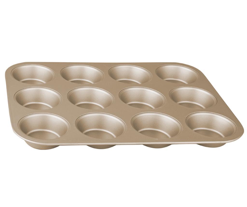 Tava de copt 12 briose Bronze Pastry