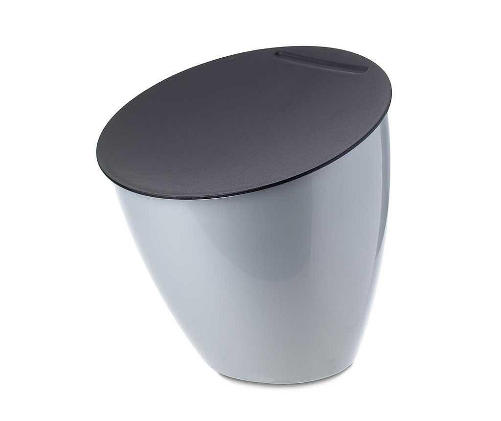 Cos de gunoi cu capac Calypso Silver