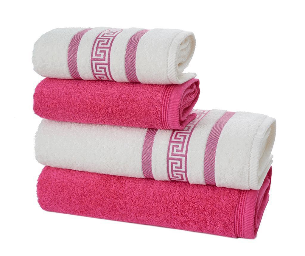 Zestaw 4 ręczników kąpielowych Nicola Pink