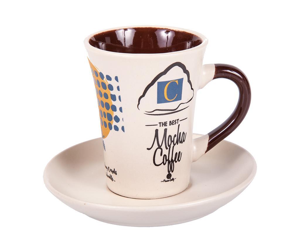 Сервиз 6 чашки и 6 чинийки Mocha Coffee Tall