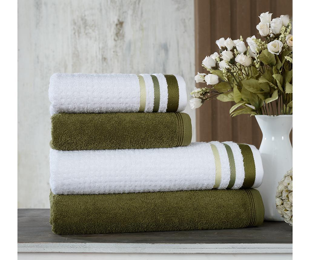 Zestaw 4 ręczników kąpielowych Alsop Green