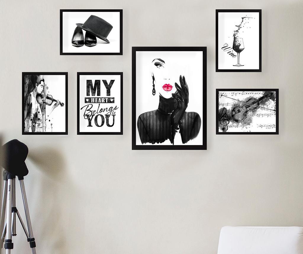 Set 6 tablouri My Heart