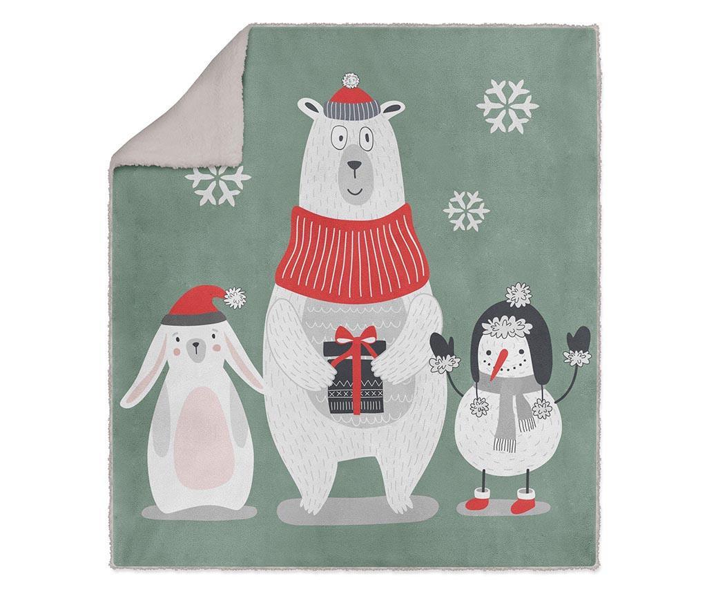 Pokrivač Winter Friends 130x160 cm