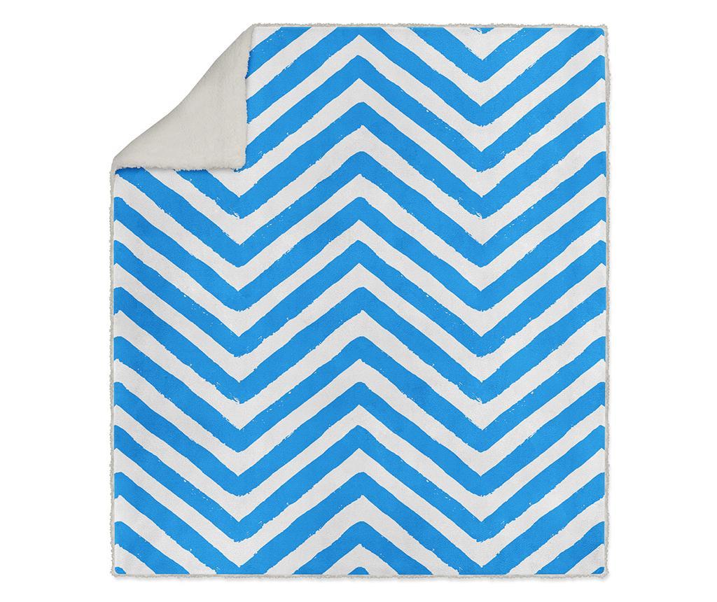 Pokrivač Blue Chevlon 130x160 cm