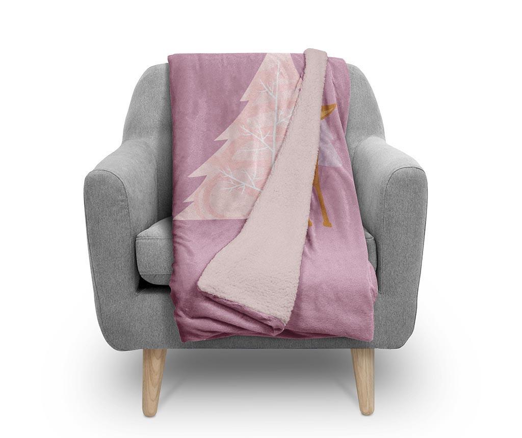 Pokrivač Pink Wolf 130x160 cm