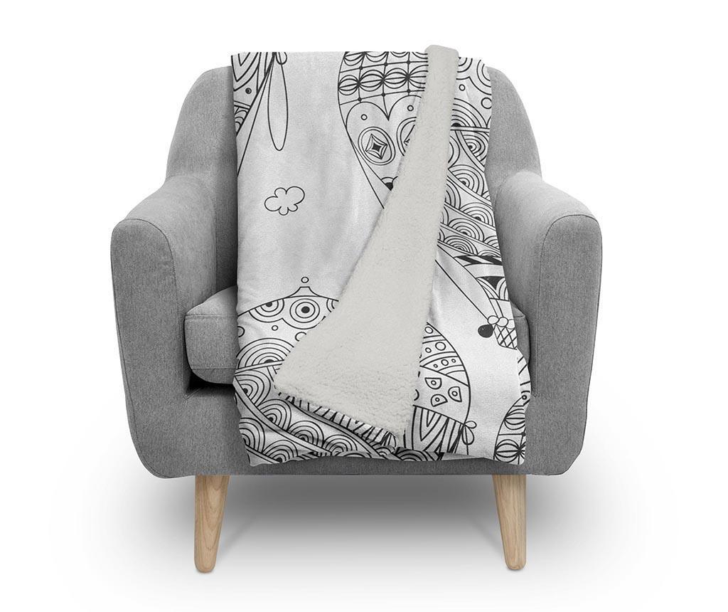 Pokrivač Black and White Fly 130x160 cm