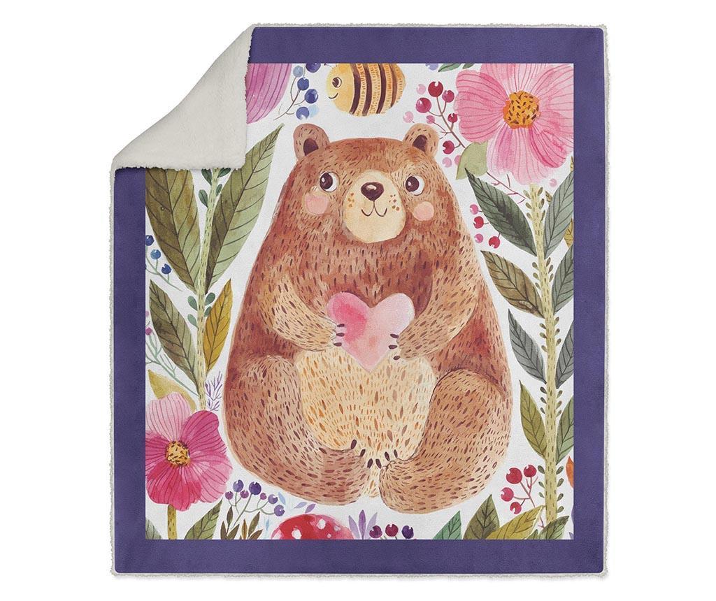 Pokrivač Love Bear 130x160 cm