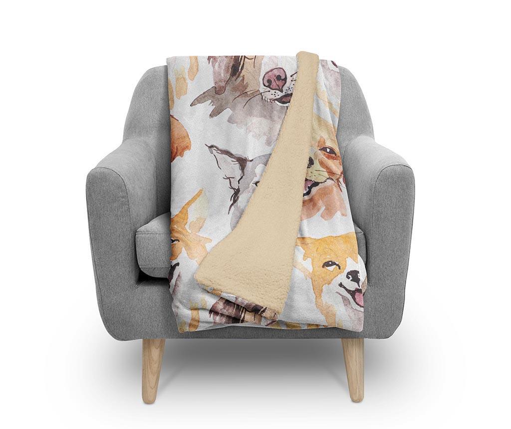 Pokrivač Animal Faces 130x160 cm