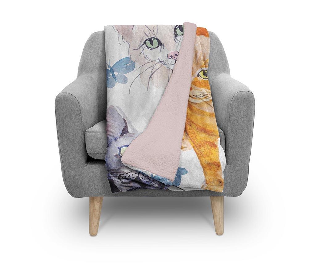 Pokrivač Friendly Cats 130x160 cm
