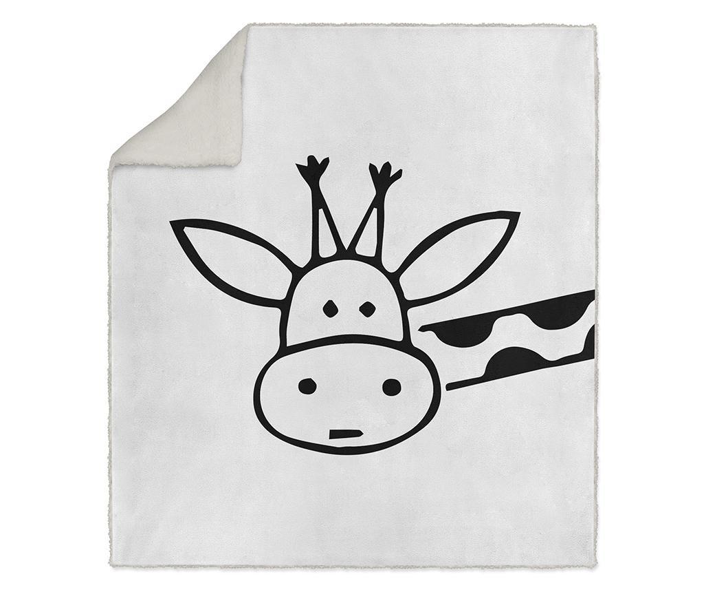 Pokrivač White Giraffe 130x160 cm
