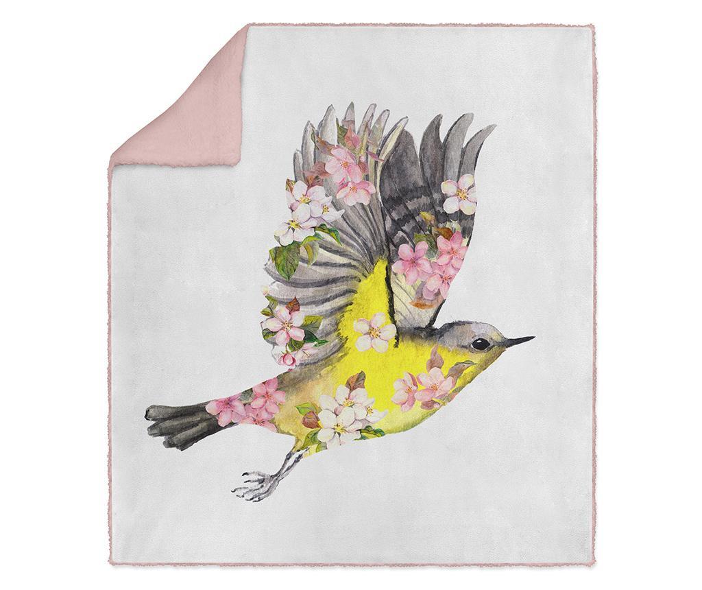 Pokrivač Spring Birdie 130x160 cm