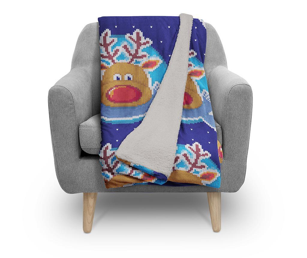 Pokrivač Frosty Reindeer 130x160 cm
