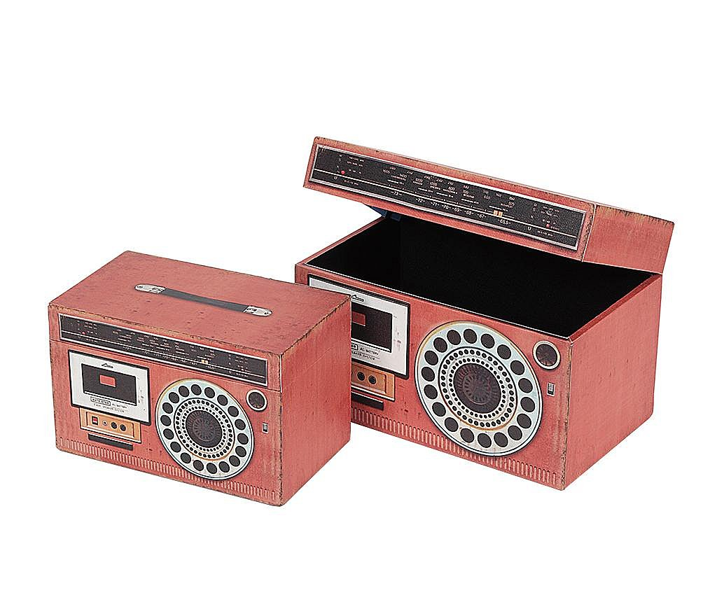 Set 2 kutije s poklopcem Radio Fun