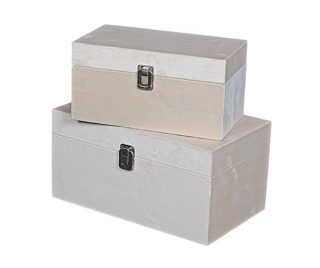 Set 2 kutije s poklopcem Petra Beige