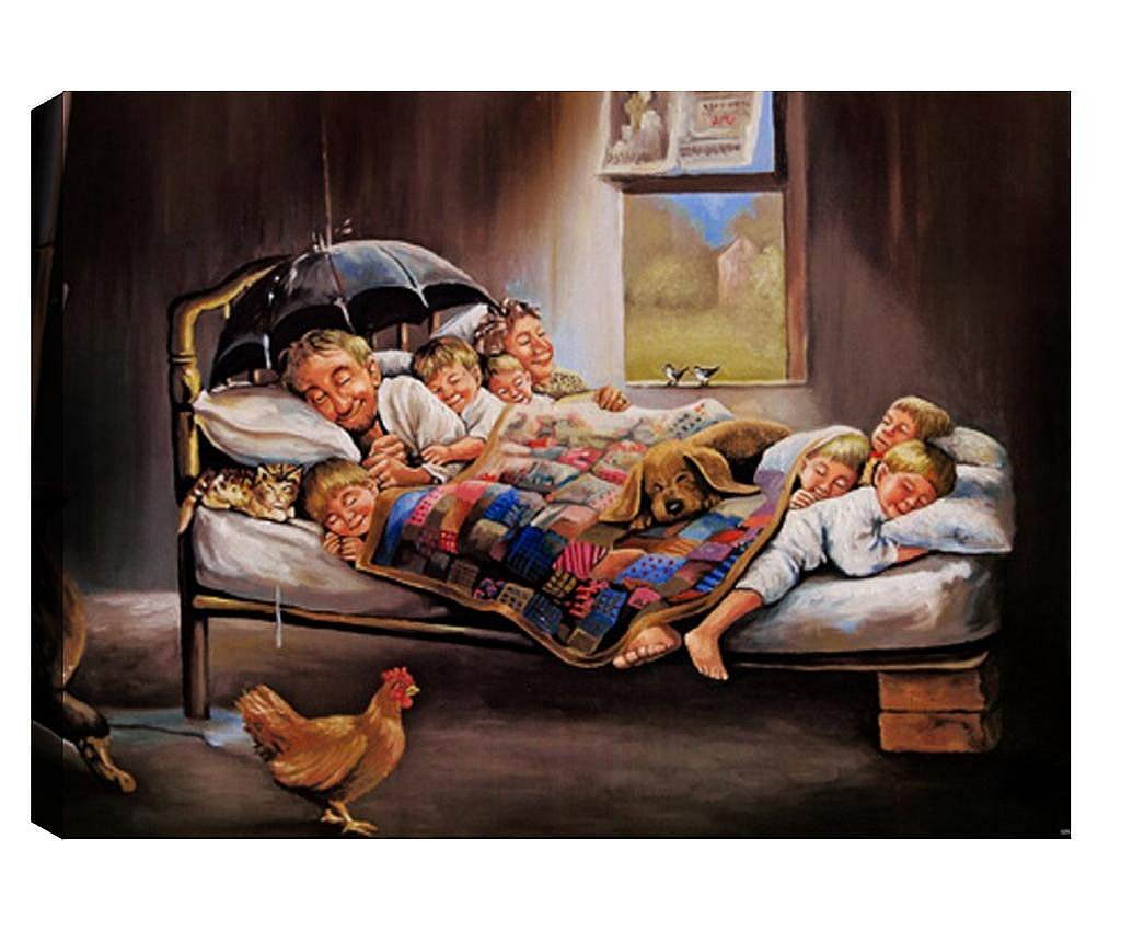 Tablou 3D Happy Family 50x70 cm