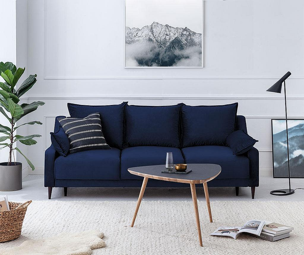 Canapea extensibila cu 3 locuri Freesia Navy Blue