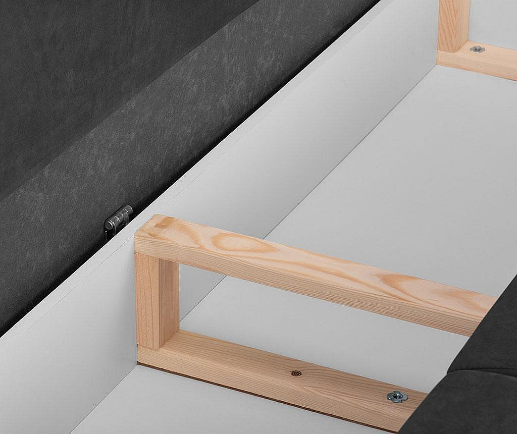Canapea extensibila cu 3 locuri Freesia Dark Grey