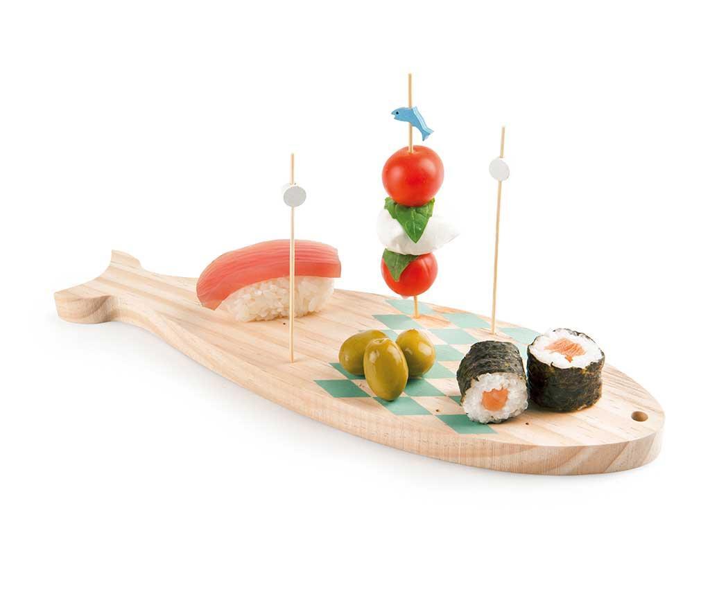 Set 15 betisoare pentru aperitive si suport Ocean Fish