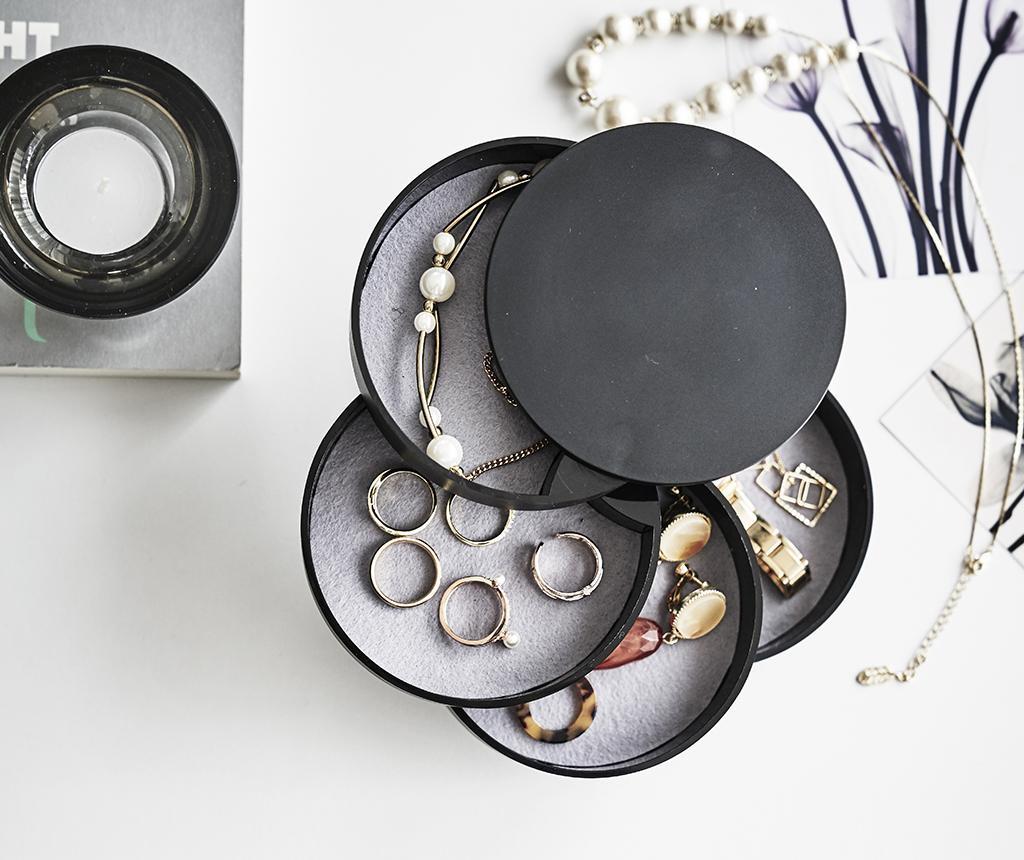 Kutija za nakit s poklopcem Tower Black