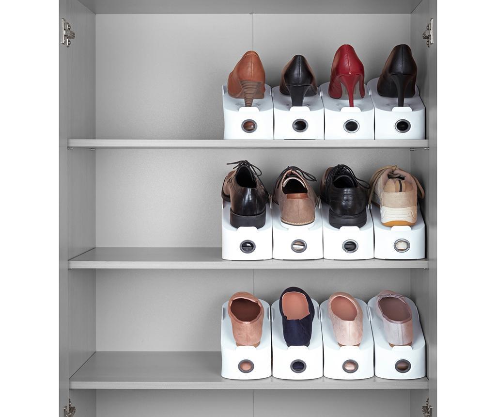Zestaw 4 organizerów na buty White Shoe