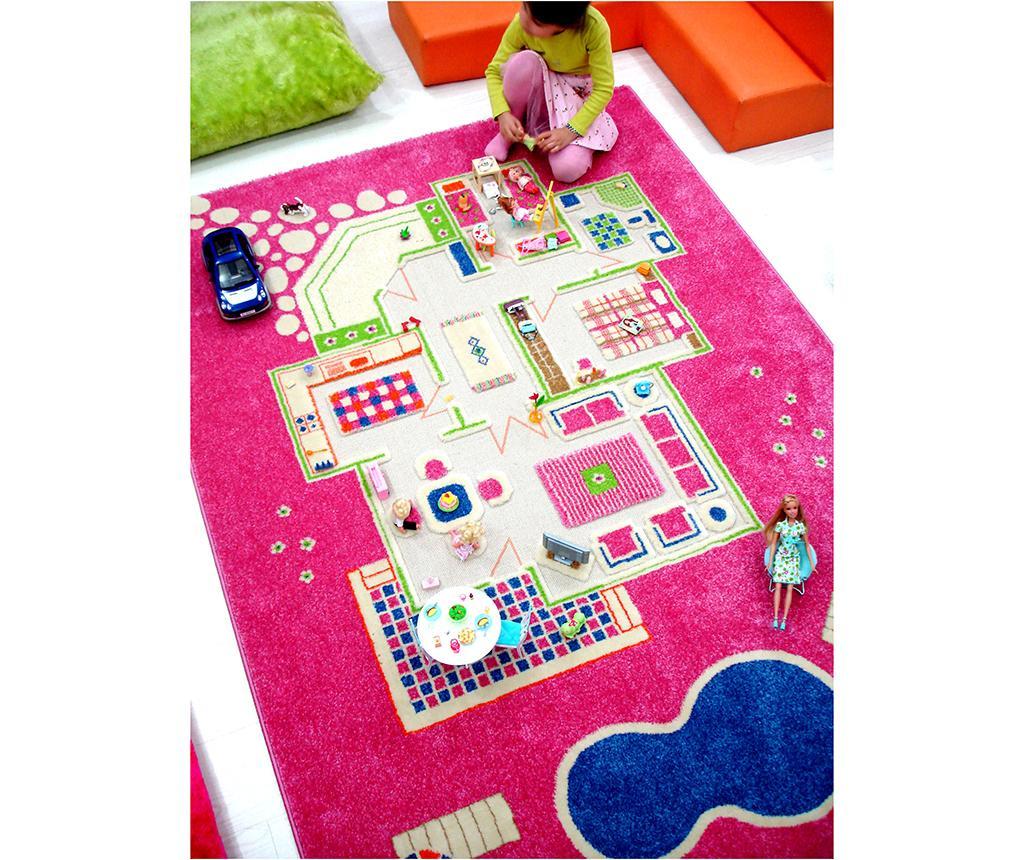 Tepih za igru Playhouse Long 3D Pink 160x230 cm