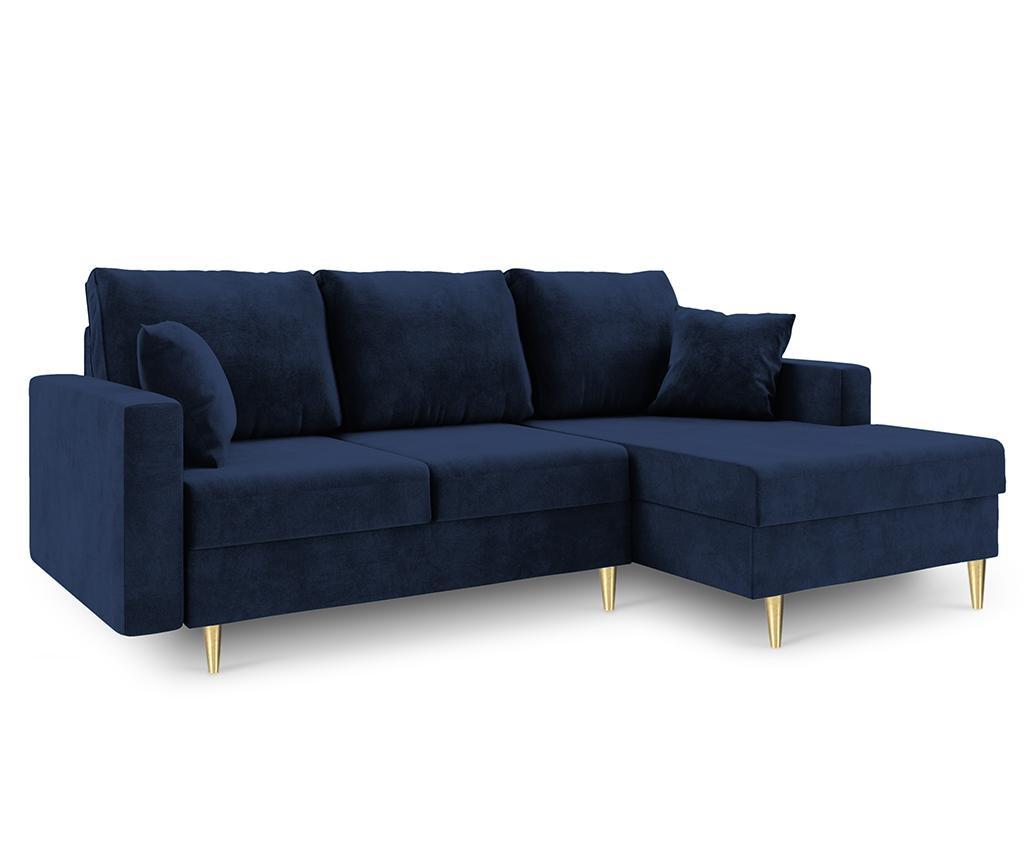 Coltar extensibil dreapta Muguet Royal Blue