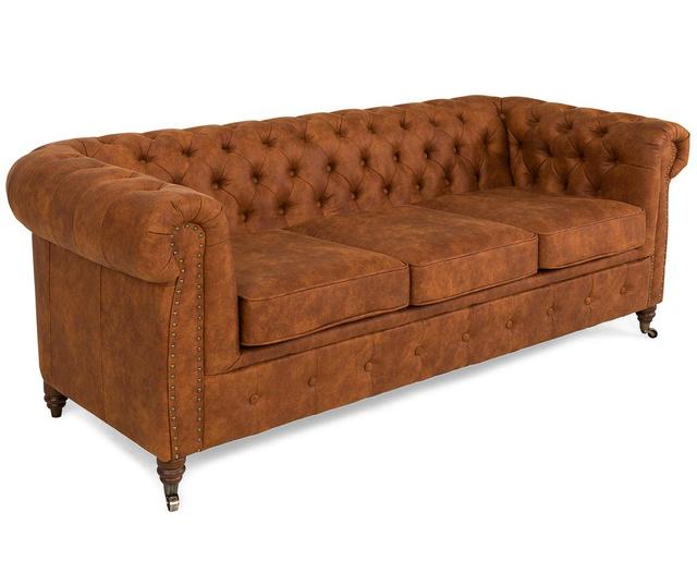 Chesterfield Vintage Cognac Háromszemélyes kanapé