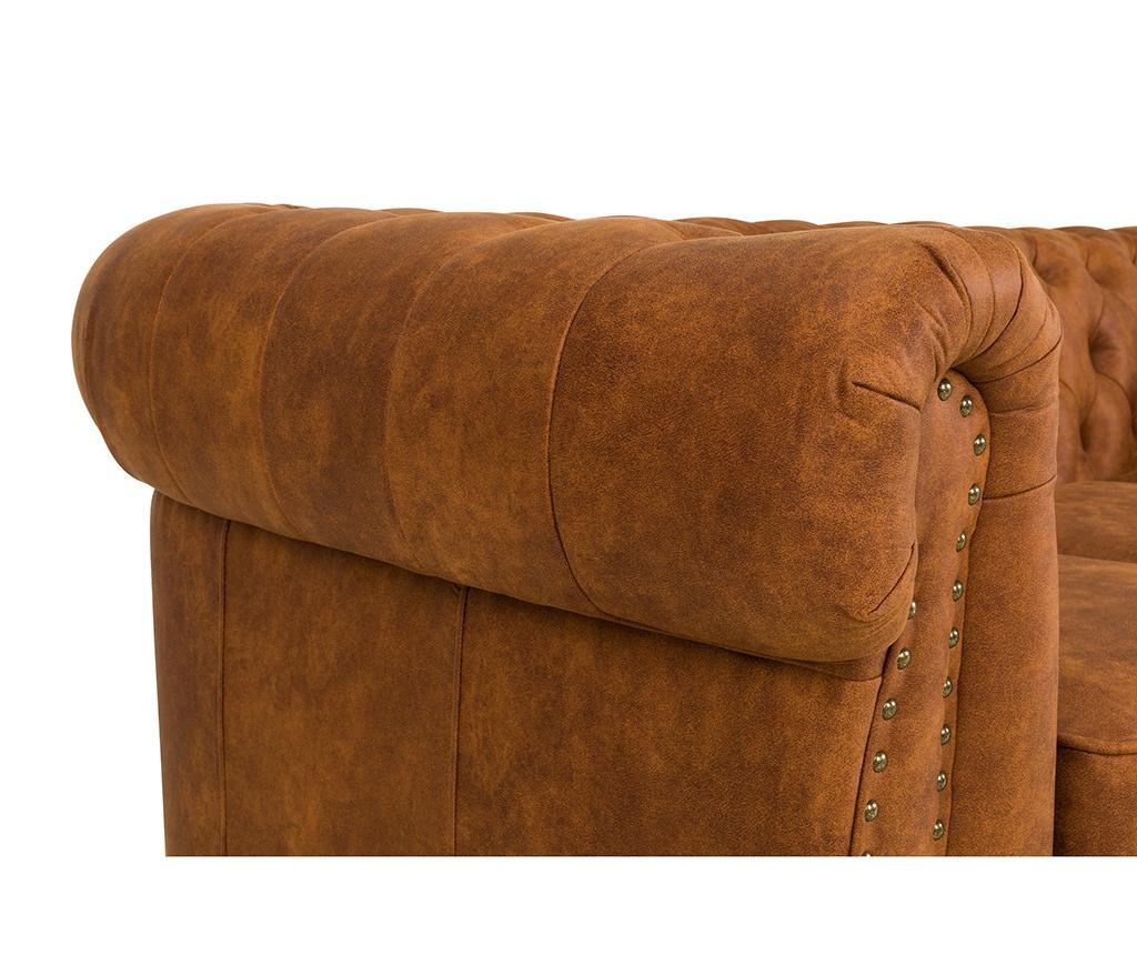 Canapea 3 locuri Chesterfield Vintage Cognac