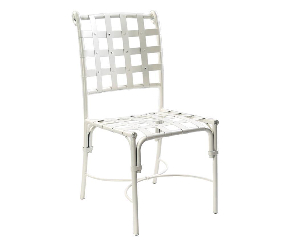 Krzesło ogrodowe Lea White