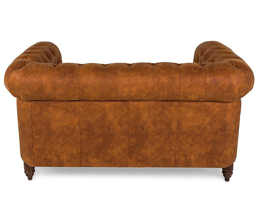 Canapea 2 locuri Chesterfield Vintage Cognac