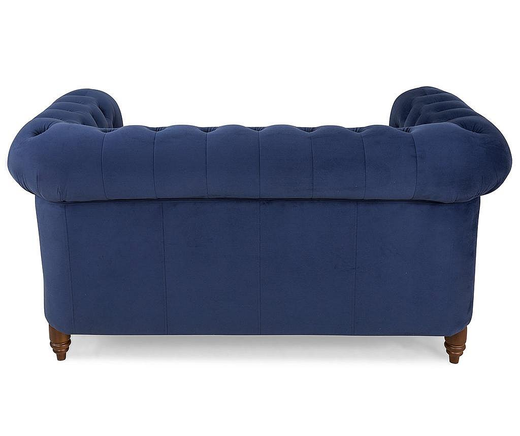 Canapea 2 locuri Chesterfield Petrol Blue