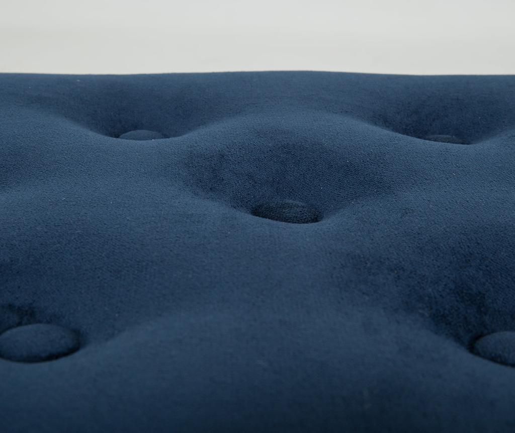 Ławka diYana Buttons Petrol Blue