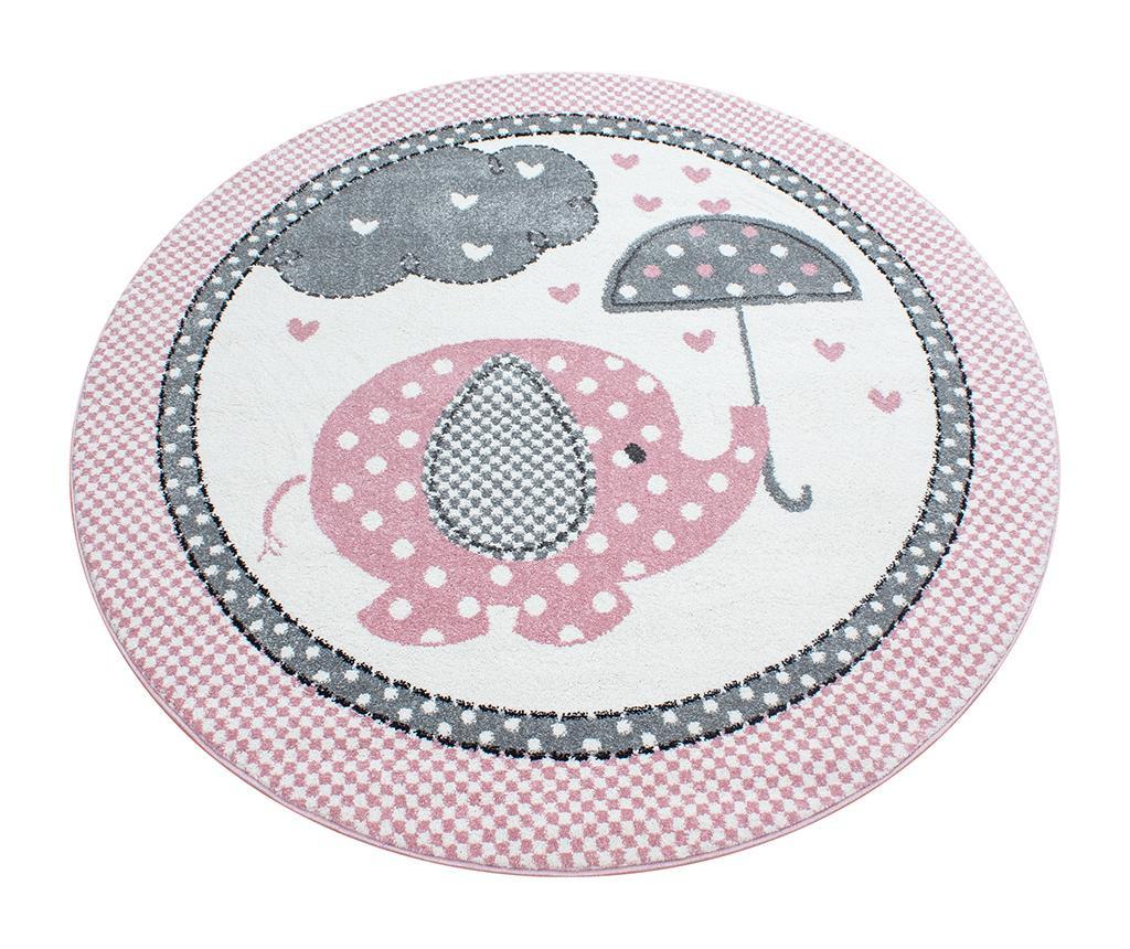 Tepih Elephant Round Pink 120 cm