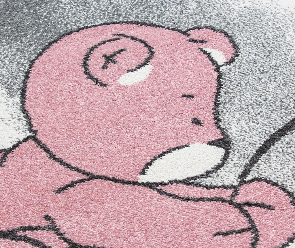 Tepih Teddy bear Round Pink 160 cm