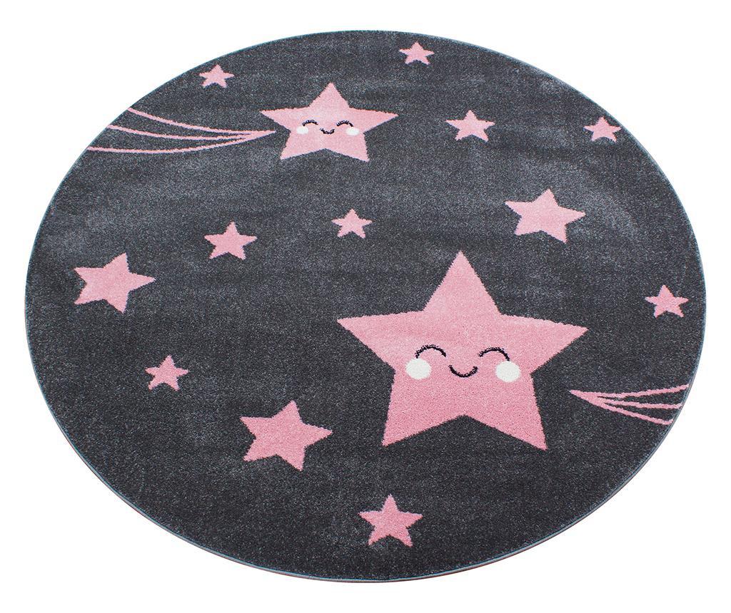 Tepih Night Stars Round Pink 160 cm