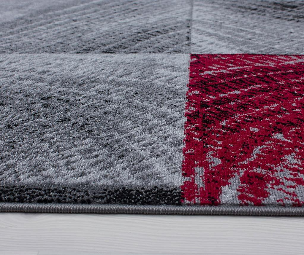 Covor Plus Waved Squares Red 160x230 cm