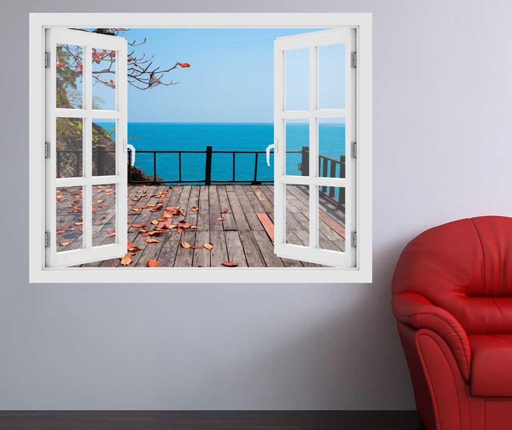 Naklejka 3D Window Ocean Terrace