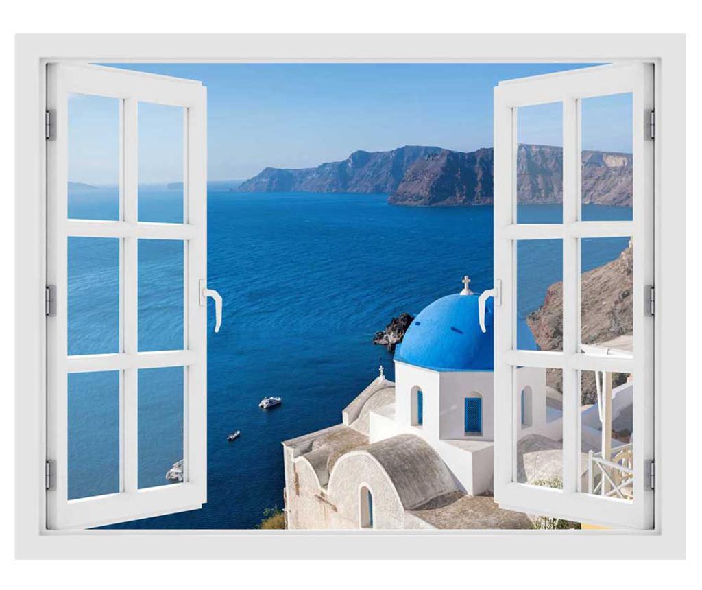 Sticker 3D Window Santorini Oia
