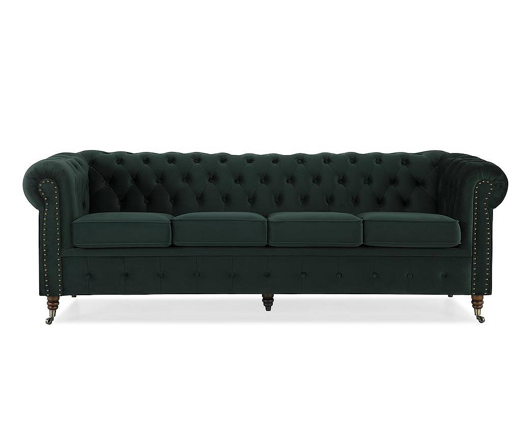Sofa četvorosjed Chesterfield Dark Green