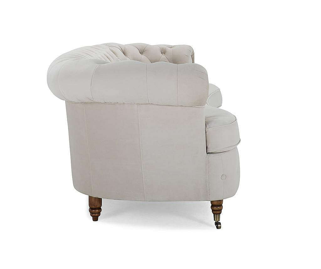 Trosed Chesterfield Curved Beige